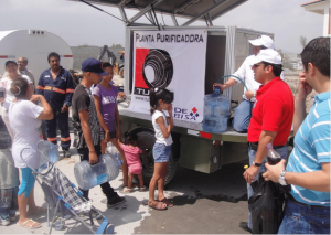 Despite the devastating damages caused by hurricane ´Alex´in Monterrey, clean water supply was ensured